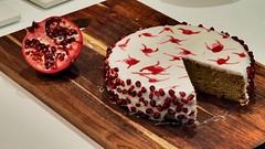 Pistachio and pomegranate cake