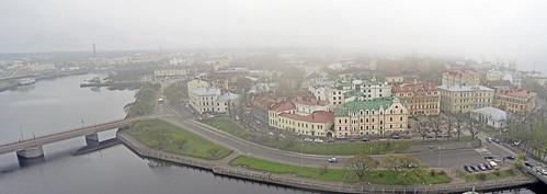 panorama misty fog architecture high nikon view hazy sights vyborg