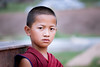 The portrait of a little monk