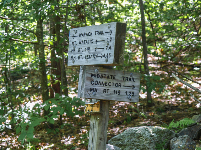 Wapack Trail Signs