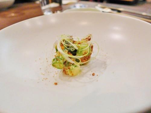 Benu restaurant asparagus sesame