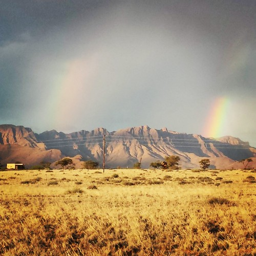 Rainbows from our campsite