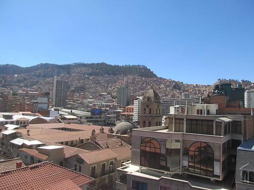La Paz: vue de notre chambre