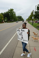 Protest at the St. Anthony police department