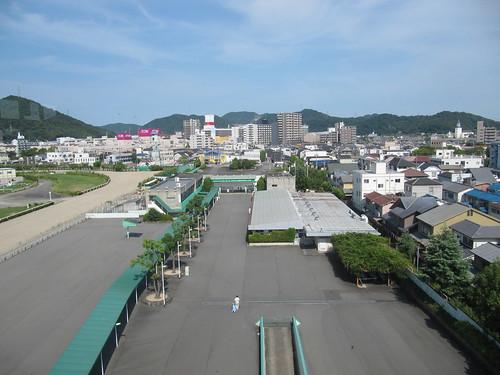 姫路競馬場の5階からの風景