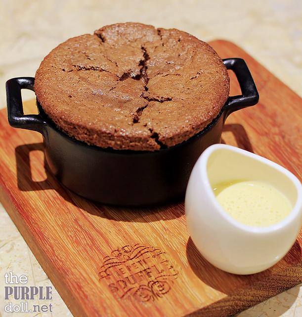 Valrhona Guanaja 70% Dark Chocolate Souffle with Vanilla Creme Anglaise (P350)