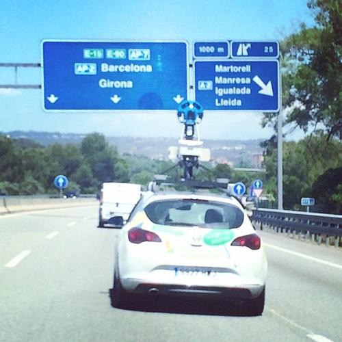 @googlemaps fent #googlestreetview a l'#autopista #AP7 per #Martorell #BaixLlobregat