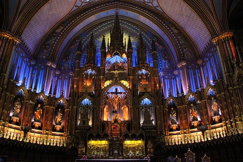 The Basilica Notre Dame in Montreal
