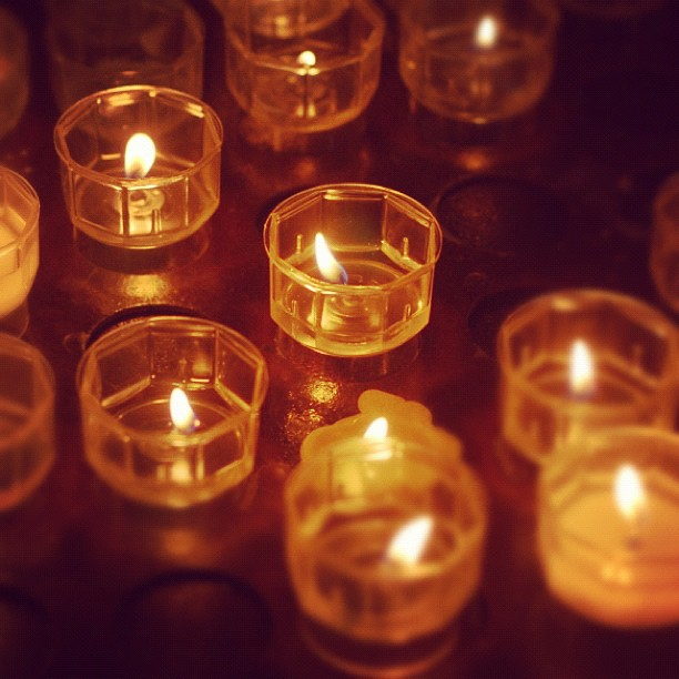 Candles, inside il Duomo #Milan