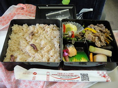 Octopus rice in 2-stage box