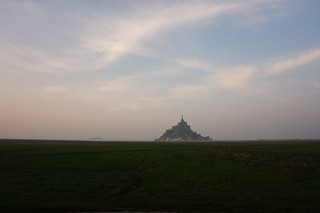 Mont St Michel at dusk