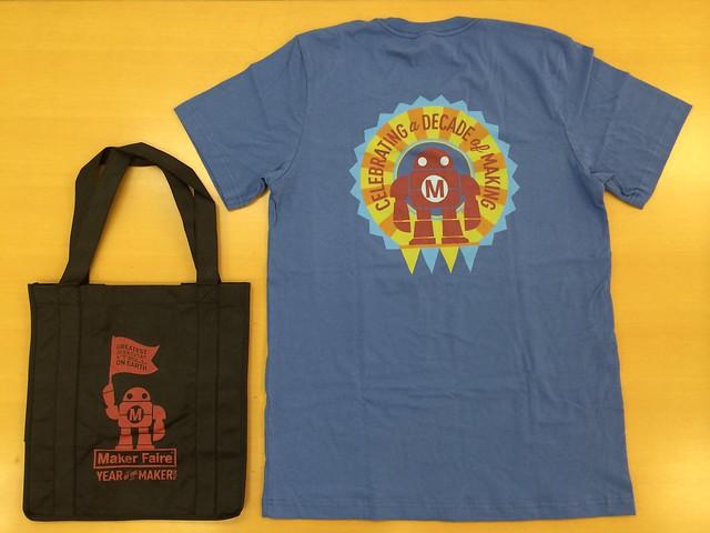 黒トート+青Tシャツ2