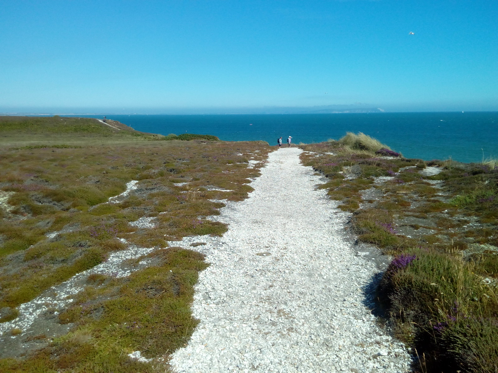 """Hengistbury Head You can just about make out """"The Needles"""" on the Isle of Wight"""