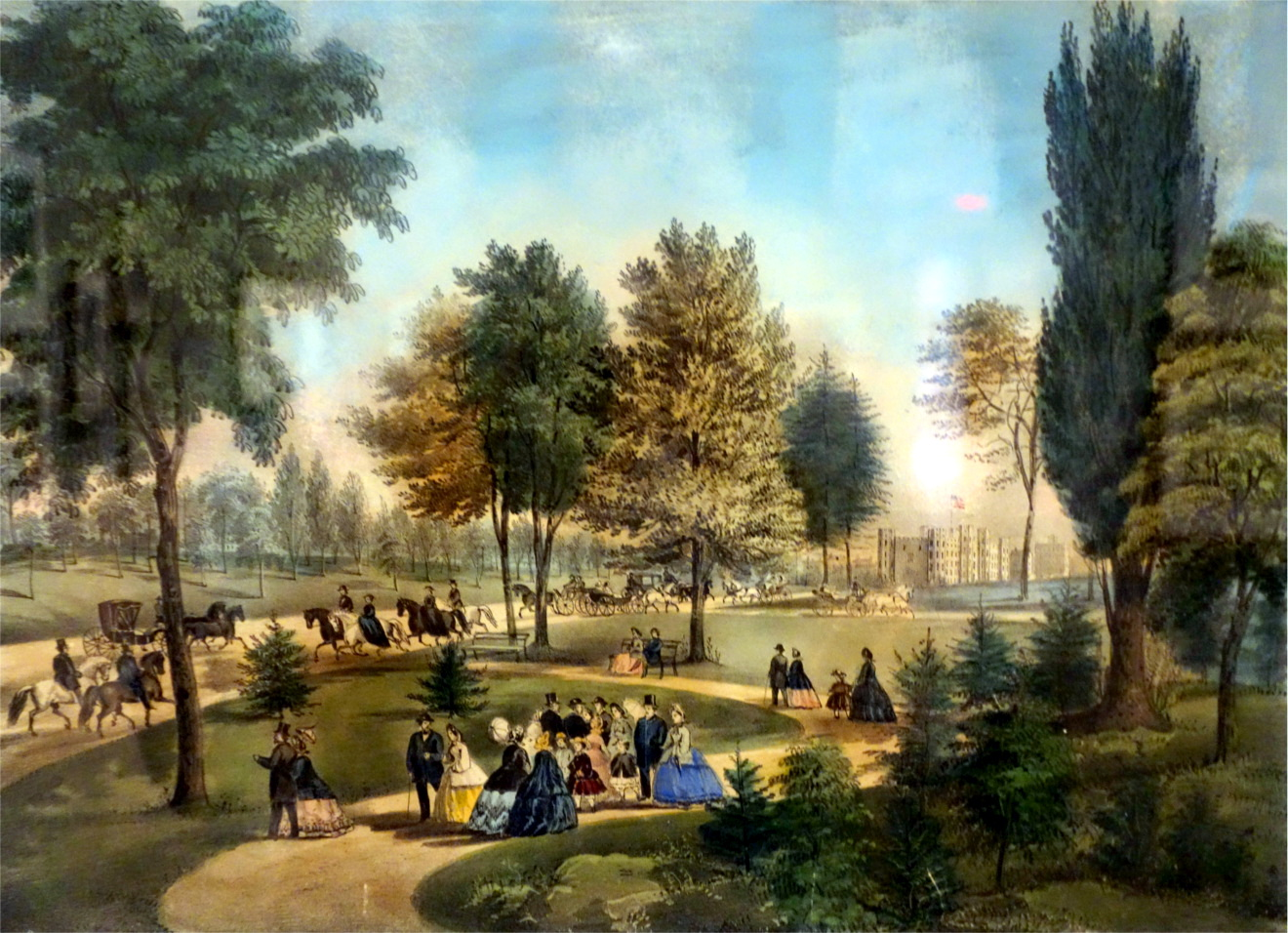 Central Park by Currier & Ives, 1862