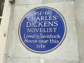 Image of Charles Dickens. charlesdickens 1851 1860 plaque tavistocksquare