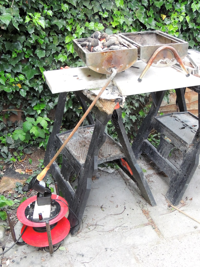 diy blacksmithing converting your barbecue into a forge then
