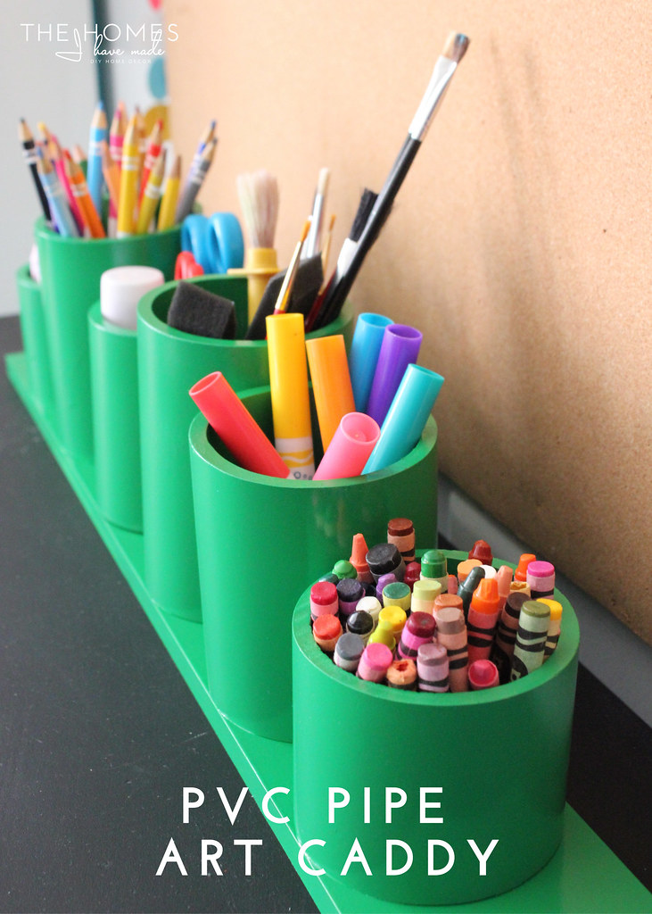 Hits and Misses Home Decor - PVC Pipe Art Caddy