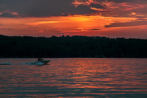 sunset lake ny evening warm dusk upstate canandaigua