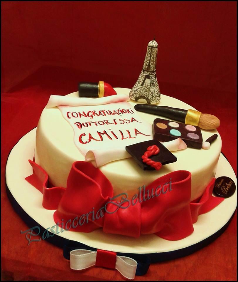 Torta di Laurea in Lingue con Tour Eiffel , Pasticceria Bellucci  Firenze