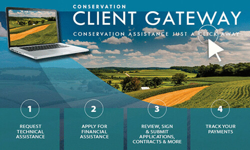 Conservation Client Gateway homepage