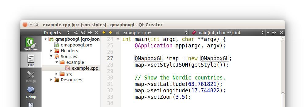 Mapbox GL running on the Qt Framework   Mapbox