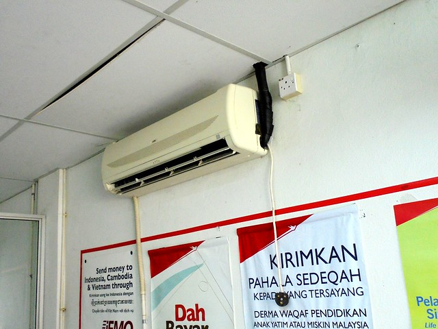 Air conditioner at Rejang Park post office