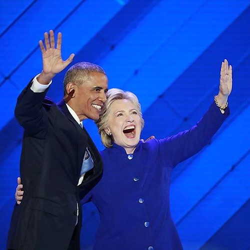 I also got to see President @barackobama's speech at the #DNC tonight as he championed @hillaryclinton and I absolutely LOVED when she came out and they hugged on stage ❤️ President No. 44 and President No. 45 right here ... I cannot wait to cast my