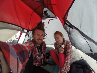 Hiking to Ala Kol in the pissing rain