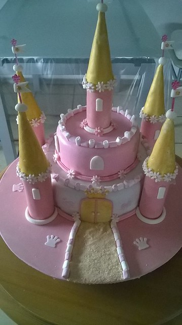 Pink Castle Cake by Corinna Hemminger