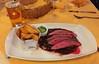 Flank steak with herb butter, BBQ lima beans & feep fried potatoes / Flanksteak mit Kräuterbutter, BBQ-Limabohnen & frittierten Schalenkartoffeln @ Ratskeller München