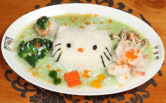 Hello Kitty翡翠蝦球蛋白飯 エビと卵白のエメラルドご飯
