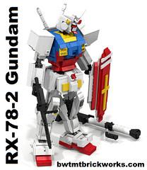 Lego RX-78-2 Gundam Resurrected by BWTMT Brickworks