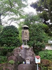 Statue of Kobo Daisahi (Kukai), Naritasan Shinshoji Temple, Narita, Japan, July 2014
