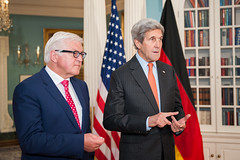 Secretary Kerry and German Foreign Minister Steinmeier Address Reporters in Washington