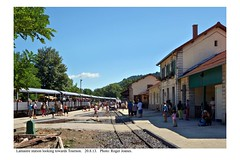 Lamastre station looking towards Tournon. 20.8.13