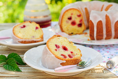 A Slice of Lemon and Caraway Seed Bundt Cake with…