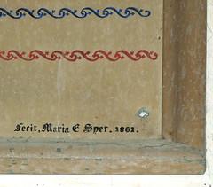 fecit, Maria E Syer, 1861
