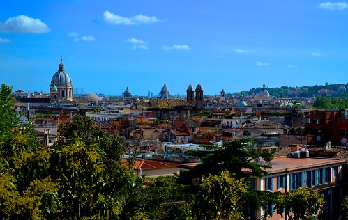 city blue sky italy panorama rome roma green colors landscape nikon flickr italia cityscape colours view capital saturday pincio 2015 cntre nikond5100