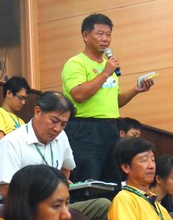 茄萣生態文化協會理事長鄭和泰。攝影:李育琴。