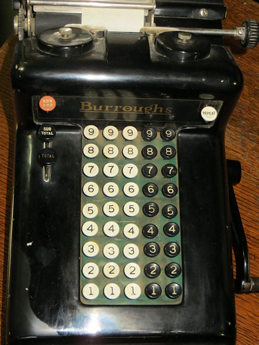 Burroughs mechanical calculator
