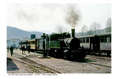 Lamastre. Steam train. 18.4.82