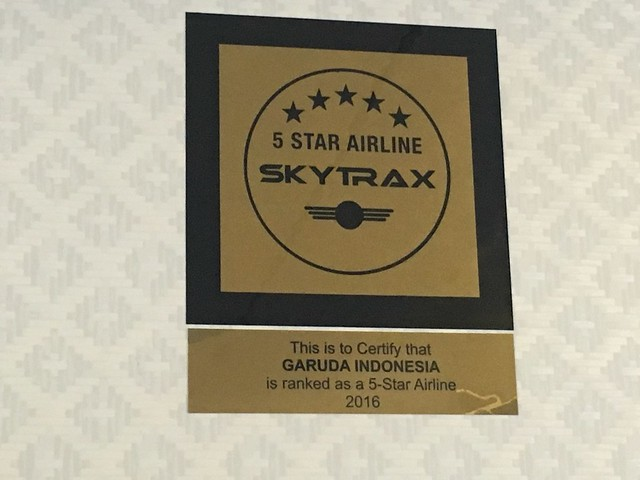 Garuda 5 étoiles Skytrax