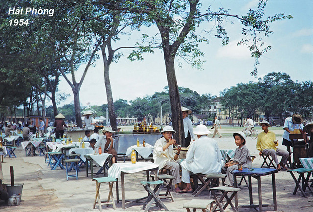 Public Park in Haiphong Vietnam French Indochina, 1954
