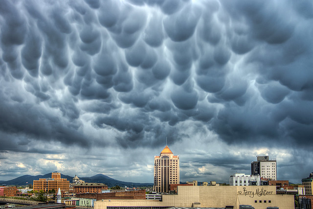 Mammatus Cloud Formations Roanoke Va Weather - Terry Aldhizer