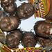 Turkana Tribeswomen In Circle Looking Down, Turkana Lake, Loiyangalani, Kenya by Eric Lafforgue