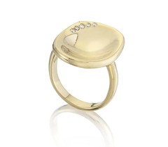Oval Disc Ring
