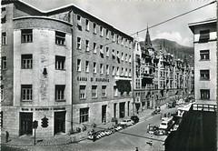bolzano - postcard - via cassa di risparmio
