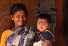 Malia Khonda woman with baby, Purninata village, Odisha