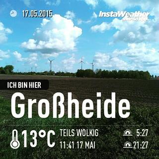 Und schon wieder eine Runde #cachen #geocaching #instaweather #instaweatherpro #weather #wx #android #großheide #deutschland #day #spring #clouds #afternoon #de