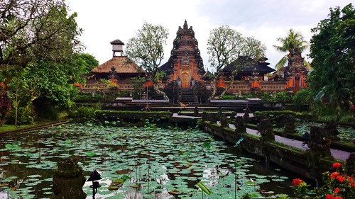 The first temple we stumbled upon, happens to be the view from the Ubud Starbucks patio.